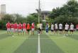 Bắt tay giao hữu giữa 2 đội tuyển trước khi trận đấu bắt đầu.
